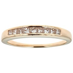 14 Karat Yellow Gold and 0.60 Carat Diamonds Ring
