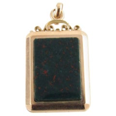 14 Karat Yellow Gold and Bloodstone Locket