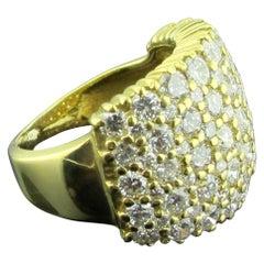14 Karat Yellow Gold and Diamond Band