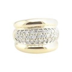 14 Karat Yellow Gold and Diamond Band Ring