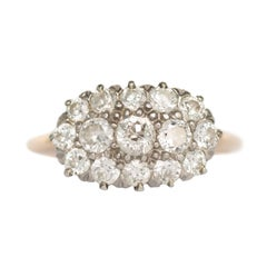 14 Karat Yellow Gold and Platinum Engagement Ring