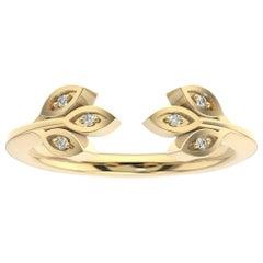 14 Karat Yellow Gold Aster Floral Diamond Ring '1/20 Carat'