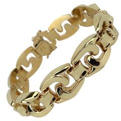 14 Karat Yellow Gold Aurafin Spiral Fancy Link Bracelet