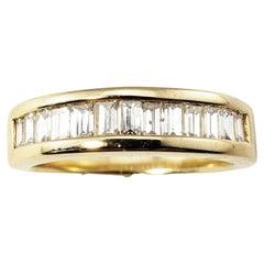 14 Karat Yellow Gold Baguette Diamond Wedding Band Ring