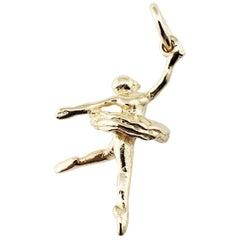 14 Karat Yellow Gold Ballerina Charm