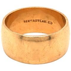 14 Karat Yellow Gold Band Ring
