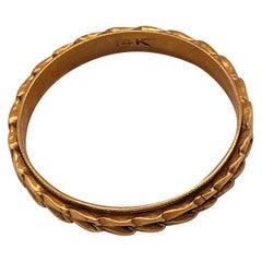 14 Karat Yellow Gold Band Wedding Bridal Ring