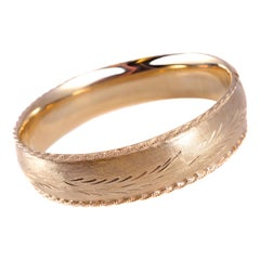 14 Karat Yellow Gold Bangle Bracelet