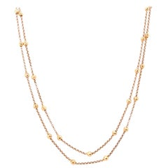 14 Karat Yellow Gold Beaded Fancy Link