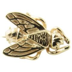 14 Karat Yellow Gold Bee Brooch