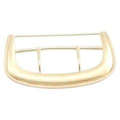 14 Karat Yellow Gold Belt Buckle