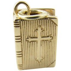 14 Karat Yellow Gold Bible Charm / Pendant