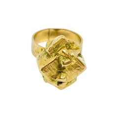 14 Karat Yellow Gold Björn Weckström 1969 Golden Geranium Ring