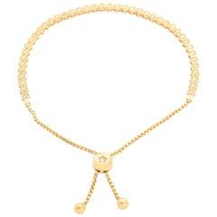 14 Karat Yellow Gold Bolo Tennis Bracelet