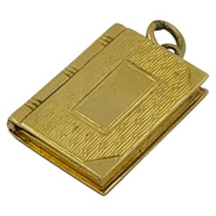 "14 Karat Yellow Gold Book Locket Charm, ""Esemco"", circa 1930s-1940s"