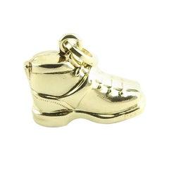 14 Karat Yellow Gold Boot Charm