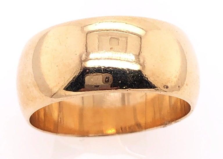 14 Karat Yellow Gold Bridal Ring/Wedding Band Size 5.25. 5.70 grams total weight.