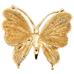 14 Karat Yellow Gold Butterfly Pin