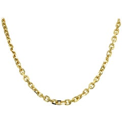 14 Karat Yellow Gold Cable Link Chain