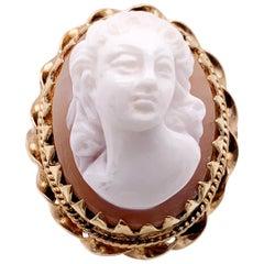 14 Karat Yellow Gold Cameo Ring 8.22 Grams Total