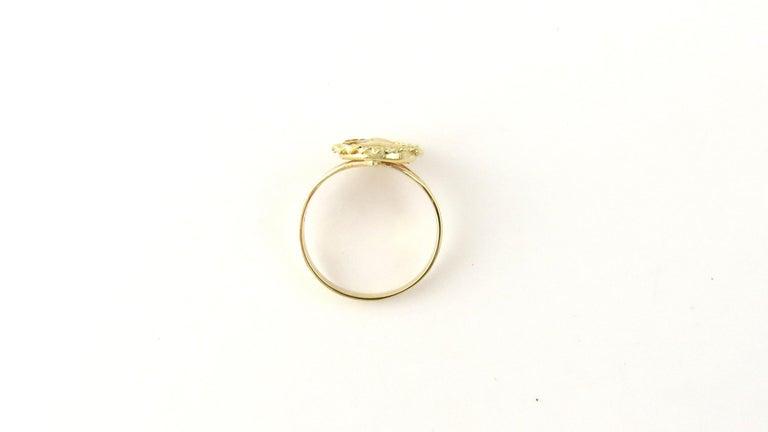 14 Karat Yellow Gold Cameo Ring 1