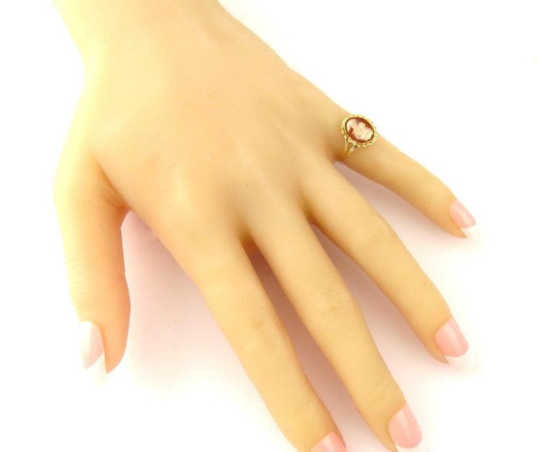 14 Karat Yellow Gold Cameo Ring 4