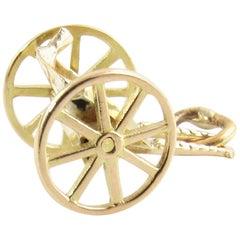 14 Karat Yellow Gold Cart Charm