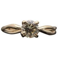 14 Karat Yellow Gold Champagne Diamond Ring