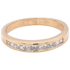14 Karat Yellow Gold Channel Set Diamond Band