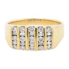 14 Karat Yellow Gold Channel Set Diamond Band
