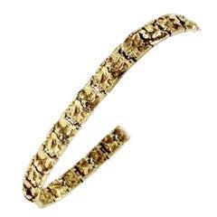 14 Karat Yellow Gold Chunky Nugget Bracelet