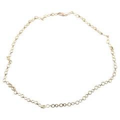 14 Karat Yellow Gold Circle Link Necklace