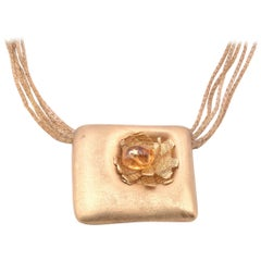 14 Karat Yellow Gold Citrine Necklace
