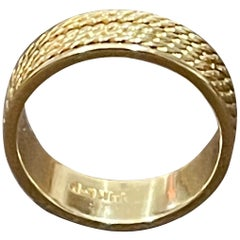14 Karat Yellow Gold Classic Wide Wedding Band Ring, Unisex