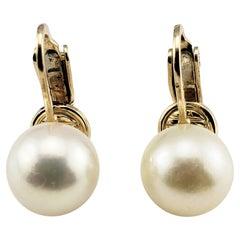14 Karat Yellow Gold Clip On Pearl Earrings