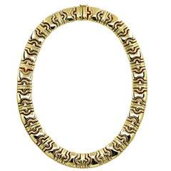 14 Karat Yellow Gold Collar Necklace