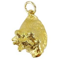 14 Karat Yellow Gold Conch Pendant Charm