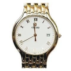 14 Karat Yellow Gold Concord 7-Row Panther Link Watch 88.0 Grams