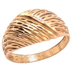 14 Karat Yellow Gold Contemporary Free Form Ring