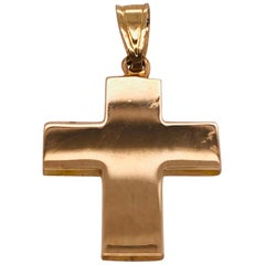 14 Karat Yellow Gold Cross / Religious Pendant