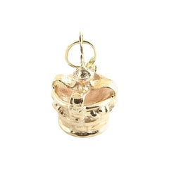 14 Karat Yellow Gold Crown Charm
