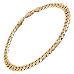 14 Karat Yellow Gold Cuban Link Bracelet