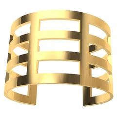 14 Karat  Yellow Gold Cuff Bracelet