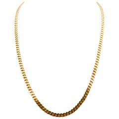 14 Karat Yellow Gold Curb Link Chain Necklace