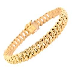 14 Karat Yellow Gold Custom Chain Link Bracelet