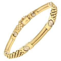 14 Karat Yellow Gold Custom Fancy Link Bracelet