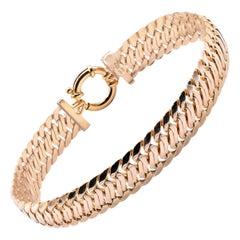 14 Karat Yellow Gold Custom Link Bracelet
