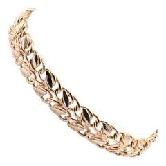 14 Karat Yellow Gold Custom Oval Link Bracelet