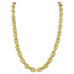 14 Karat Yellow Gold Detachable Link Necklace Bracelet 73.4 Grams 33 Inches