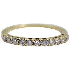 14 Karat Yellow Gold Diamond Anniversary Ring